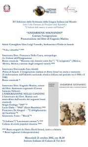 Microsoft Word - Programma Eugenio Marino Tel Aviv.doc